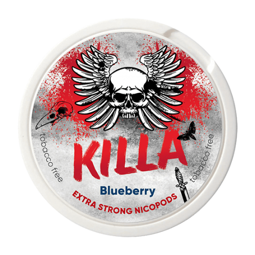 KILLA Blueberry Slim Extra Strong 16mg - Nicotine Pouches UK (20 Pack)