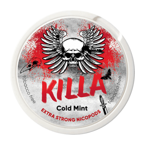 KILLA Cold Mint Slim Extra Strong 16mg - Nicotine Pouches UK (20 Pack)