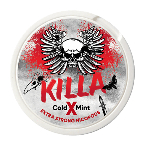 KILLA Cold X Mint Slim Extra Strong 16mg - Nicotine Pouches UK (20 Pack)